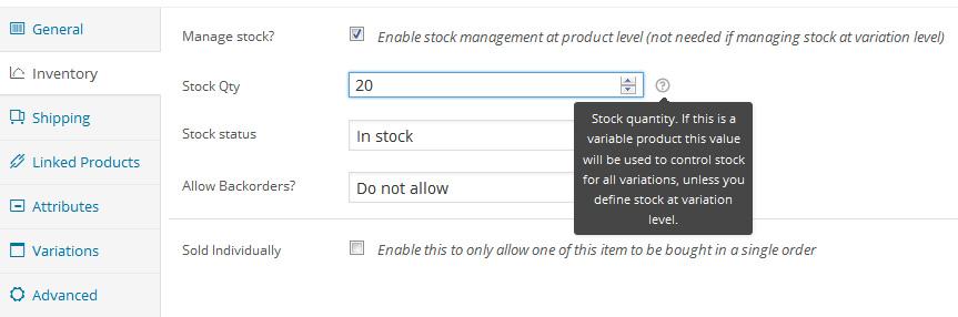 Per gestire inventario e magazzino con WooCommerce potete usare diverse opzioni fra cui quelle dedicate ai prodotti disponibili, la quantità ma anche la possibilità di eseguire ordine anche a prodotto esaurito