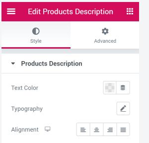 edit product descriptions