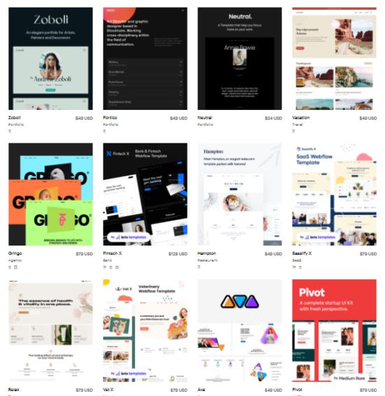 webflow themes